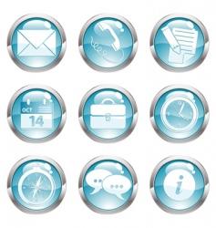 set business gloss button vector image vector image