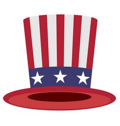 Uncle sam hat symbol of america vector
