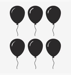 balloon black icon vector image