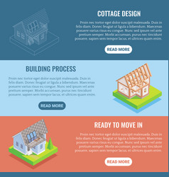 cottage construction flat isometric vector image vector image