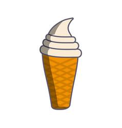 ice cream isolated icon vector image