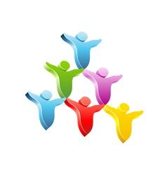 People pyramid concept icon vector image