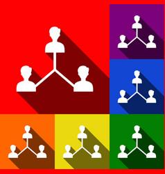 social media marketing sign set of icons vector image