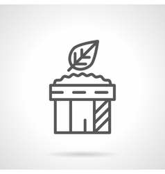 Spicy sauce for salad black line icon vector image