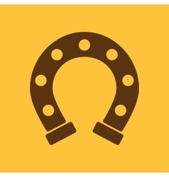 The horseshoe icon Horse and races symbol Flat vector image vector image