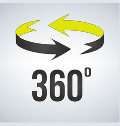 360 degrees view sign icon isolated on modern vector