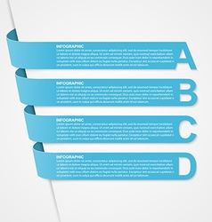 Abstract 3D options ribbons infographic vector image
