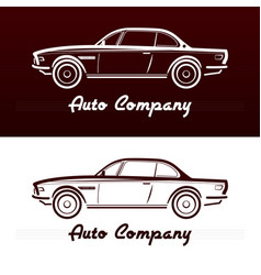 Abstract retro car design vector