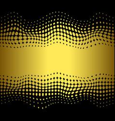 abstrat halftone gold dots horizon seamless vector image