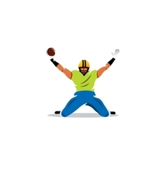 American football sign Player celebrating a goal vector image