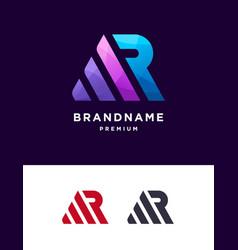 Ar monogram letter logo template vector