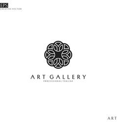Art gallery logo template vector