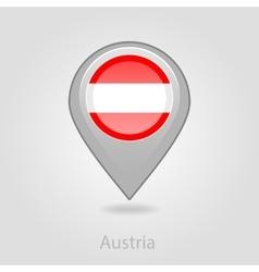 Austria flag pin map icon vector image