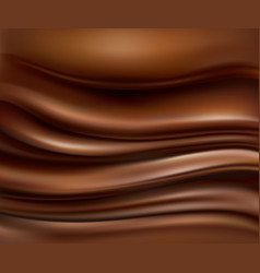 background with flowing hot chocolate waves vector image