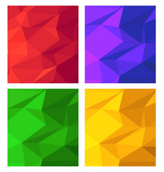 Banner set collection flyer abstract triangular vector