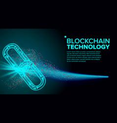 blockchain link web chain internet vector image