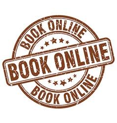 book online brown grunge round vintage rubber vector image