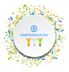 celebration card for independence day of india vector image
