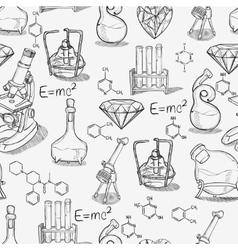Chemistry lab pattern vector