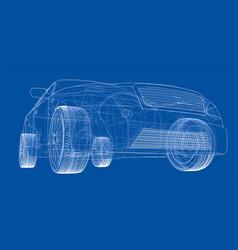 concept car vector image