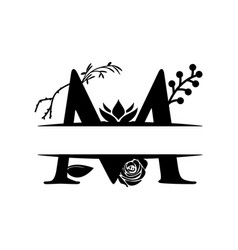 Decorative monogram split letter graphic design vector