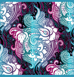 elegant hand drawn seamless paisley pattern vector image