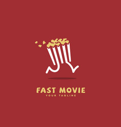 Fast movie logo vector