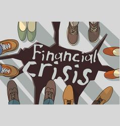 Financial economic crisis busies destruction vector