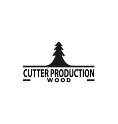 fir tree cutter logo designs inspiration isolated vector image