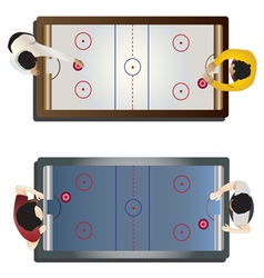 Game room Hockey table top view vector image