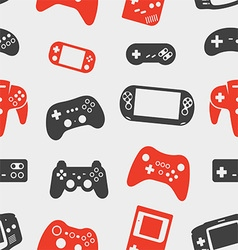 gamepad silhouette seamless background vector image