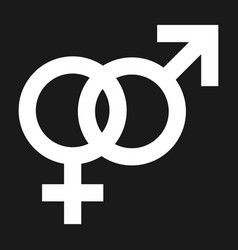 gender icons man and woman symbols connected vector image
