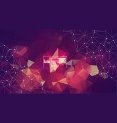 geometric vintage polygonal background molecule vector image