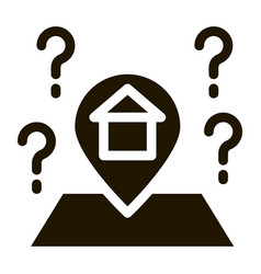 Gps mark with house icon vector