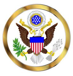 great seal of america vector image