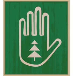 Hand and spruce vector image vector image