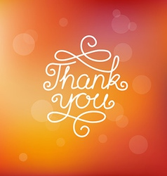 Hand-lettering thank you vector