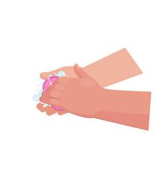 handwashing with soap vector image