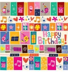 Happy Birthday pattern 4 vector image