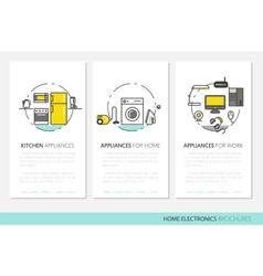 Home Electronics Appliances Business Brochures vector