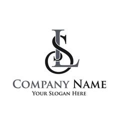 initial letter ls logo design vector image