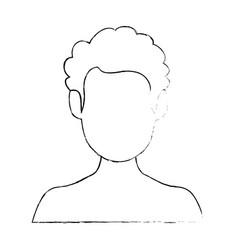 Isolated cute man face vector
