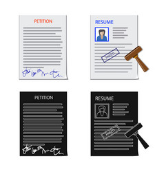 Isolated object form and document icon vector