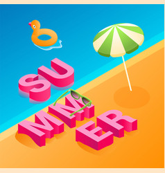 isometric summer concept 01 vector image