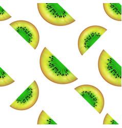 kiwi slices seamless pattern summer fruit vector image