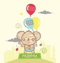 koala playing baloons vector image