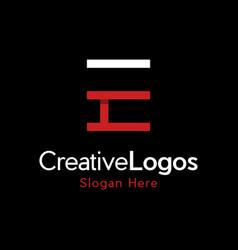 letter e outline creative business modern logo vector image
