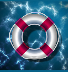 lifebuoy on background water surface vector image