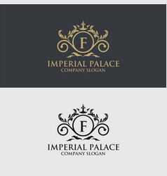 luxury crest decorative logo vector image