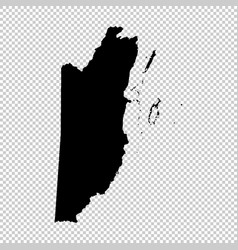 map belize isolated black on vector image